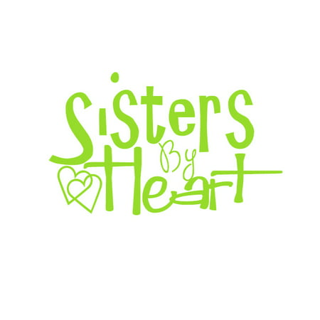 Sisters By Heart Vinyl Decal Small Lime