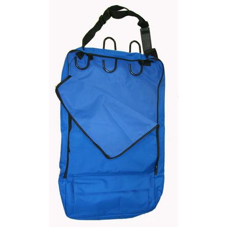 Deluxe Bridle Halter Tote Bag Carrier Tack Racks 600D Royal Blue Multi Pockets