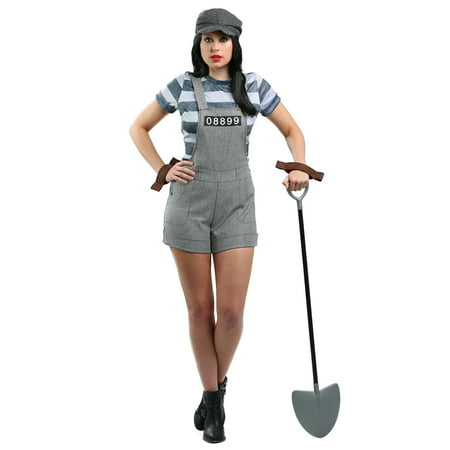 Plus Size Women's Chain Gang Prisoner Costume](Prisoner Dress)