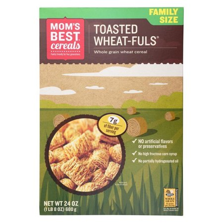 Mom's Best Naturals Wheat-fuls - Toasted - Pack of 12 - 24