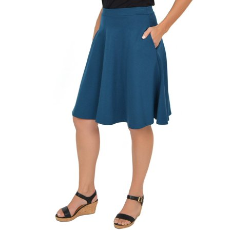 Adult Circle Skirt - Women's Circle Skirt With Pockets - Small (0-2) / Dark Teal