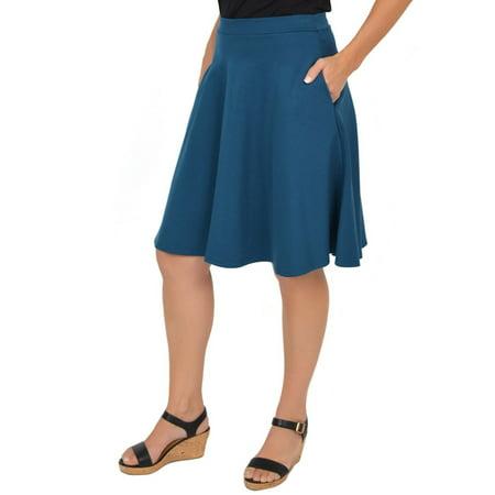 Women's Circle Skirt With Pockets - Small (0-2) / Dark -