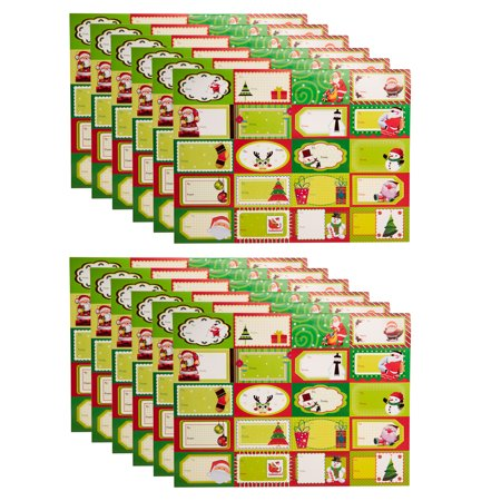 Santa's Studio (240 Count) Premium Assorted Holiday Sticker Gift Tags For Christmas Presents Stocking Stuffers