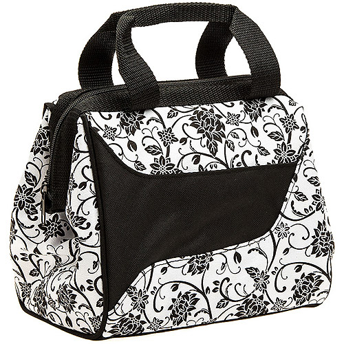 Fit and Fresh Downtown Designer Lunch Bag in Zebra with Ice
