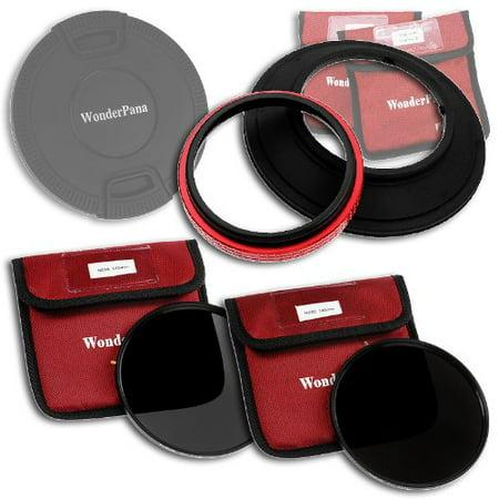 WonderPana 145 ND Kit - 145mm Filter Holder, Cap, ND16 & ND32 Filters for 14mm Full Frames (Samyang, Rokinon, Polaroid, ()
