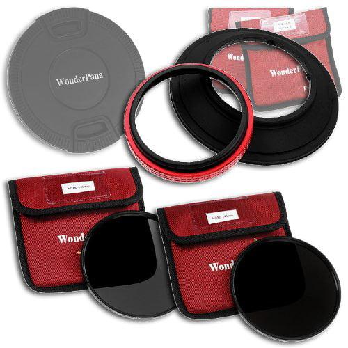 WonderPana 145 ND Kit - 145mm Filter Holder, Cap, ND16 & ND32 Filters for 14mm Full Frames (Samyang, Rokinon, Polaroid,