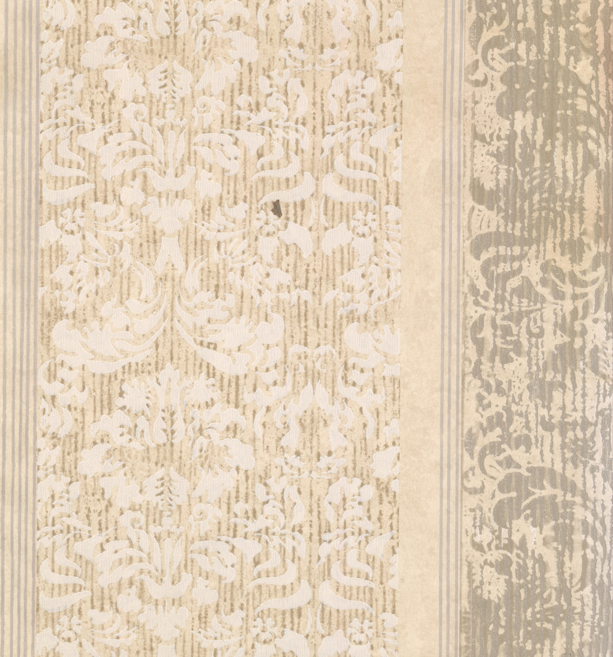 CL2_PAISLEY - Traditional Color Cream, Grey Wallpaper Roll - image 1 of 1