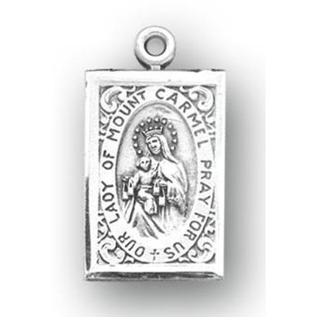 Our Lady of Mount Carmel Sterling Silver Scapular Medal ()