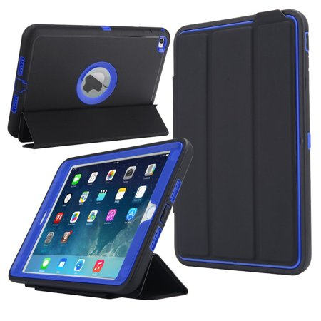 size 40 7d901 57dbe Spencer For Apple iPad Mini 4 Case,Shockproof Rugged Cover Hard Heavy  Hybrid Impact Resistant Defender Full Case with Screen protector Blue