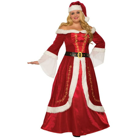 Womens Premium Mrs. Claus - Class Halloween Costumes