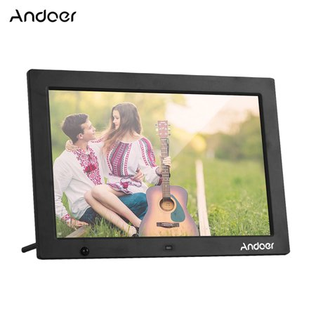 Andoer 13.3 Inch 1280 * 800 HD Digital Photo Frame Electronic Picture Album 1080P Video Music Player with Motion Sensor Scroll