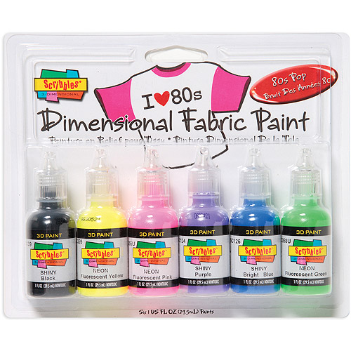 Tulip Scribbles Dimensional Fabric Paint Set, 1 oz, 6/pkg