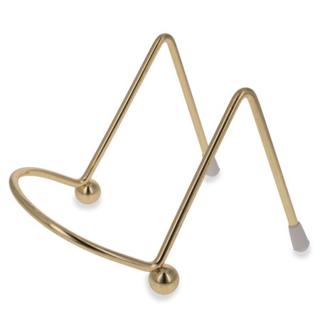 Gold Tone Metal Easel Stand Display Holder 2 Inches