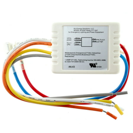 BJI Energy Solutions 10097 Dual Circuit Exit Sign Relay Module, 277-Volt, 1.3A