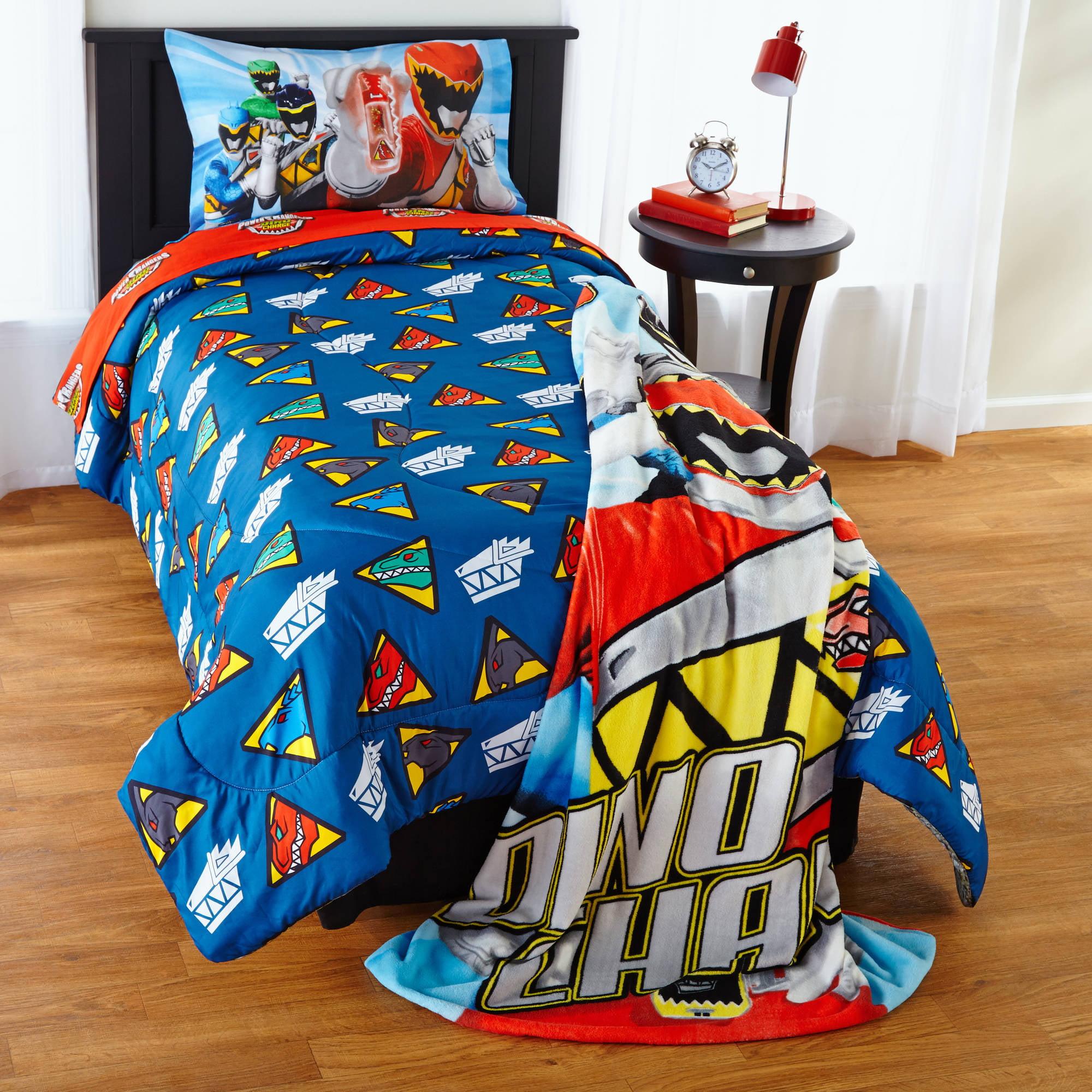 Power Rangers Bedroom Decor Power Rangers Dino Charge Twin Full Comforter Walmartcom