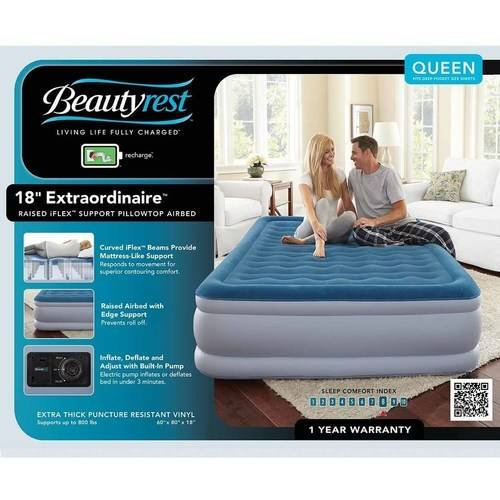 beautyrest queen air mattress Simmons Beautyrest Silver Extraordinaire with iFlex Support and  beautyrest queen air mattress