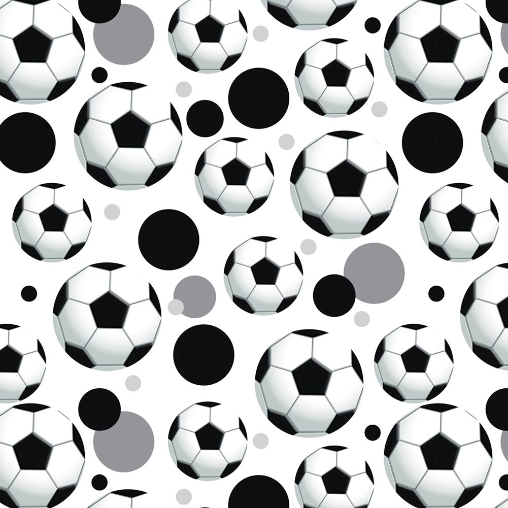 Soccer Ball Football Premium Gift Wrap Wrapping Paper Roll Pattern ...