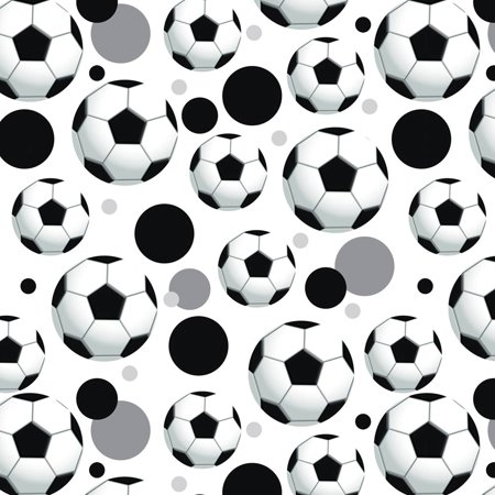 Soccer Ball Football Premium Gift Wrap Wrapping Paper Roll Pattern