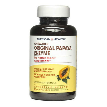 - American Health Chewable Original Papaya Enzyme, Tablets, 250 ea