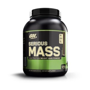 Optimum Nutrition Serious Mass Protein Powder, Chocolate, 50g Protein, 6 Lb