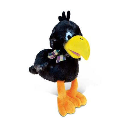 Halloween Yucky Stuff (Puzzled Crow Stuffed Animal Plush - Extremely Intelligent Clever Trickster 9.5 Inch Super Soft Exotic Black Bird With Yellow Beak And Orange Feet - Cute Wildlife Halloween Pet Decoration -)
