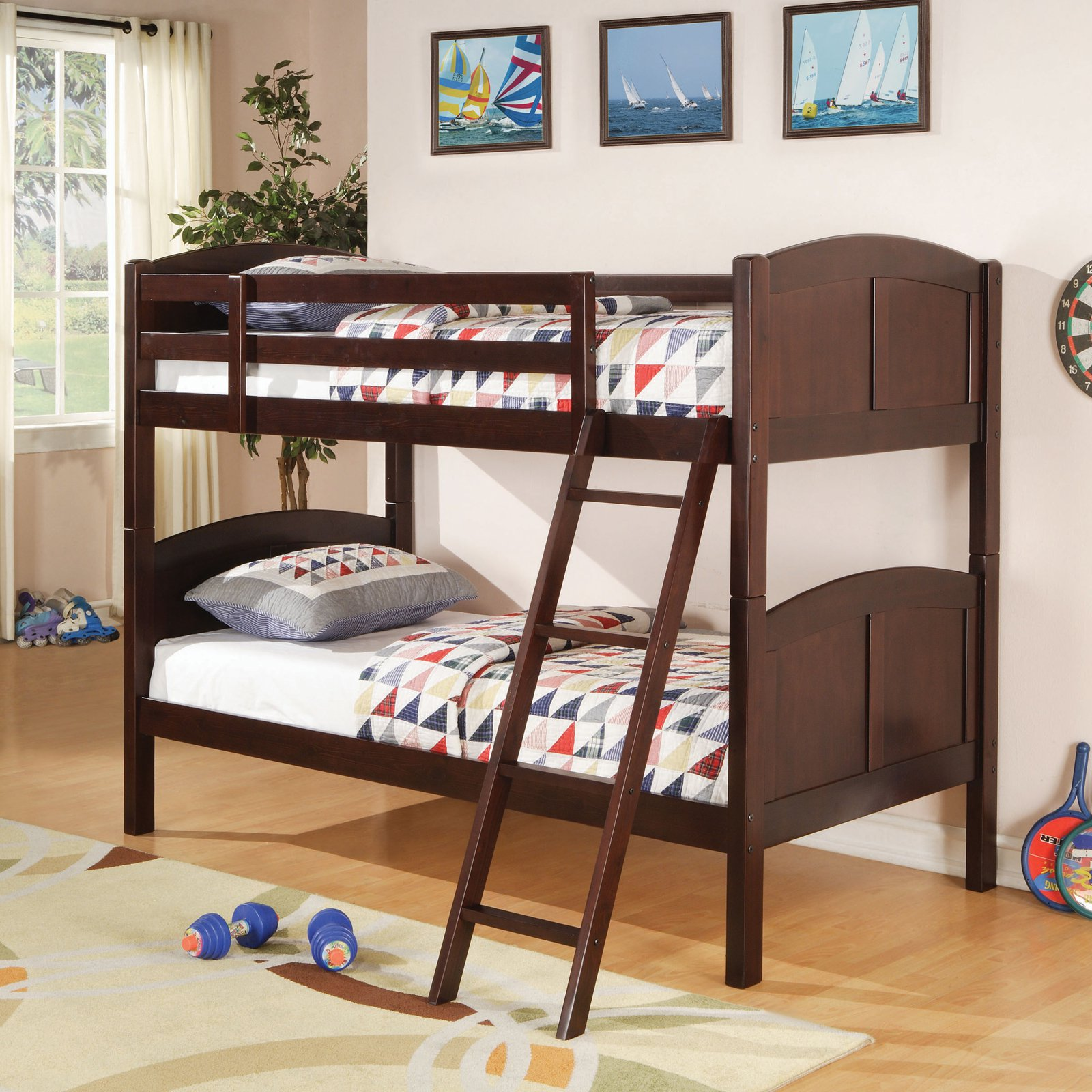 Coaster Furniture Twin over Twin Bunk Bed - Cappuccino