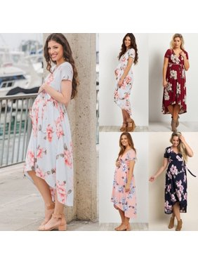 02b317ebfc Product Image 4 Colors Pregnant Women Long Maxi Dresses Maternity Gown  Photography Photo Shoot Clothes S-XL. Honganda