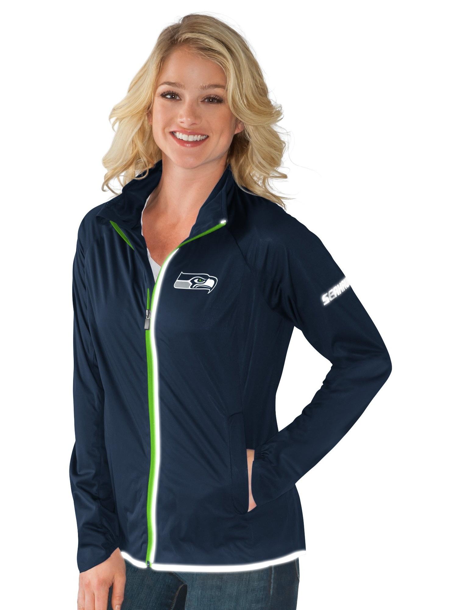 Seattle Seahawks Team Colors Full Zip Women's Track Jacket by G-III Sports