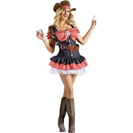 Sheriff Adult Halloween Costume](Cowgirl Sheriff Costume)