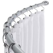 Chrome Curved Shower Curtain Rod Adjustable Bath Tub Accessory