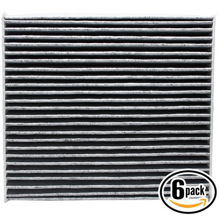 6-Pack Replacement Cabin Air Filter for 2014 Toyota SIENNA V6 3.5L 3456cc Car/Automotive - Activated Carbon, ACF-10285