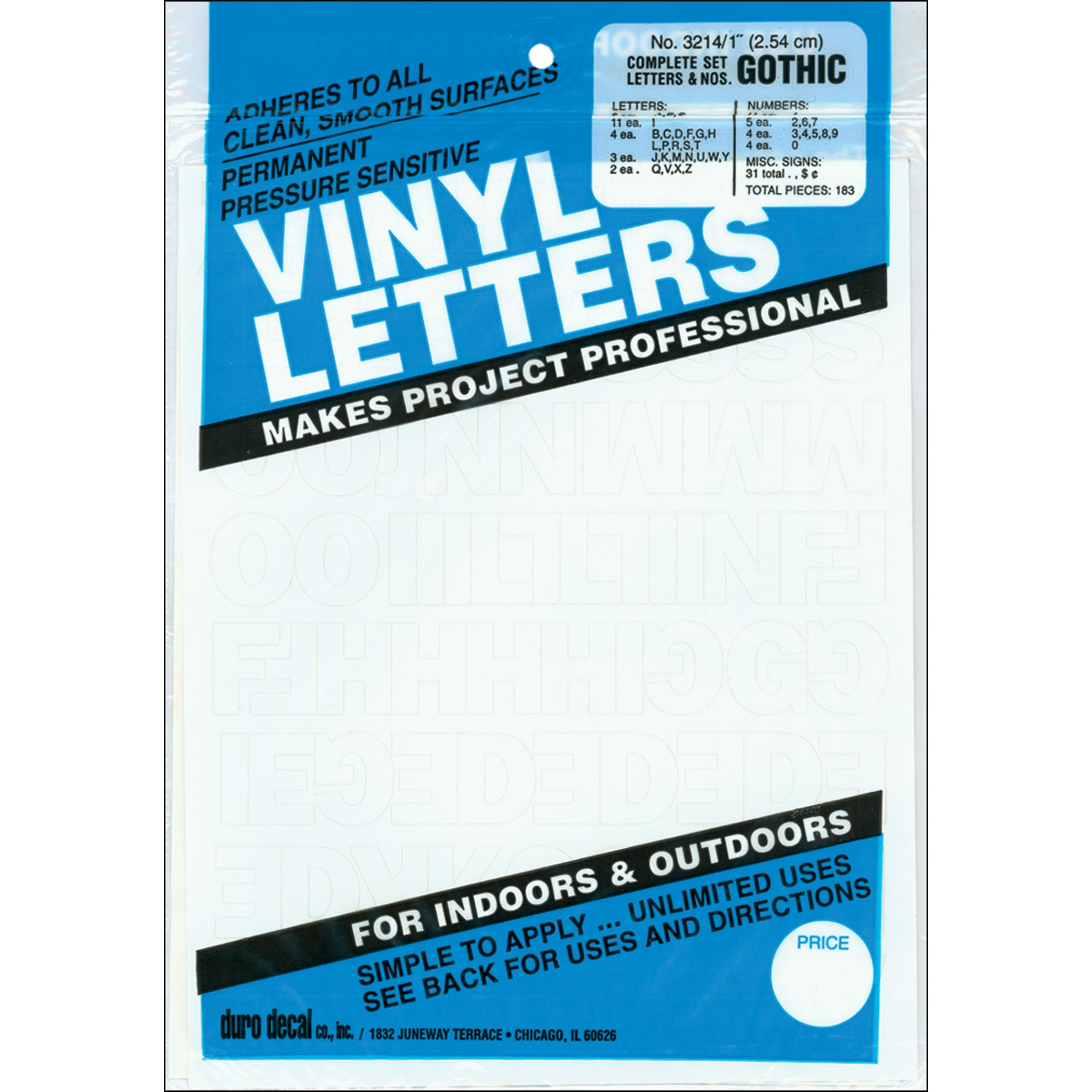 Permanent adhesive vinyl letters 183 pkg white walmart canada