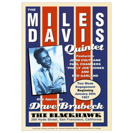 Miles Davis Quintet at the Blackhawk, San Francisco, California, 1957 Art