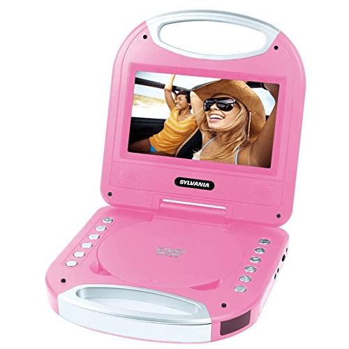 "Sylvania SDVD7049-PINK 7"" Portable DVD Player with Handle, Pink - Manufacturer Refurbished"