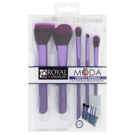 Royal and Langnickel Moda Perfect Mineral Professional Makeup Brush Set, 6 count