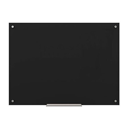 U Brands Glass Dry Erase Board, 47 x 35 Inches, Black Surface, Frameless](Black Dry Erase Board)