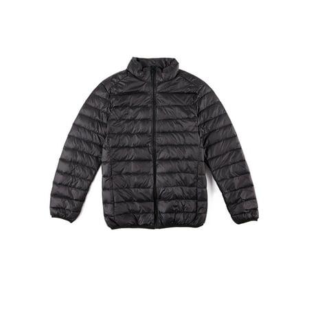 - Men's Down Jacket Puffer Bubble Coat Packable Lightweight Warm Parka Zipper Coat Up to Size 4XL Black/Blue/Gray