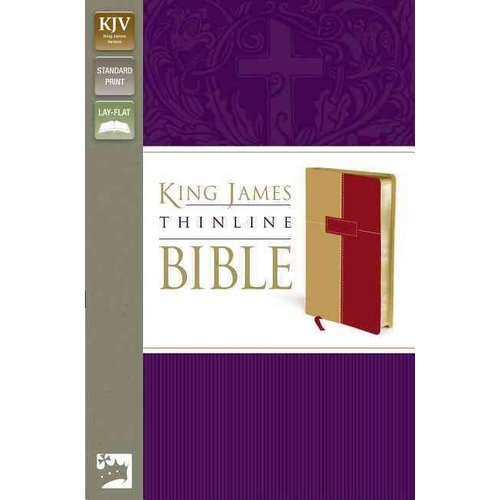 Holy Bible: King James Version, Thinline, Dark Camel/ Rich Red Italian Duo-Tone