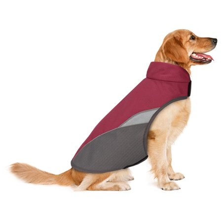 HDE Dog Raincoat Waterproof Lightweight Adjustable High Visibility Dog Coat for Small Medium and Large Dogs