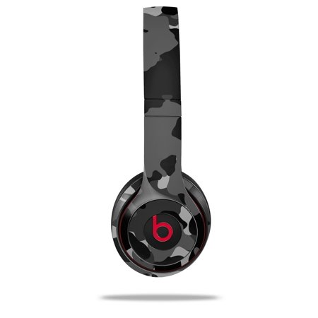 Skin Decal Wrap for Beats Solo 2 and Solo 3 Wireless Headphones WraptorCamo Old School Camouflage Camo Black (BEATS NOT INCLUDED) by WraptorSkinz