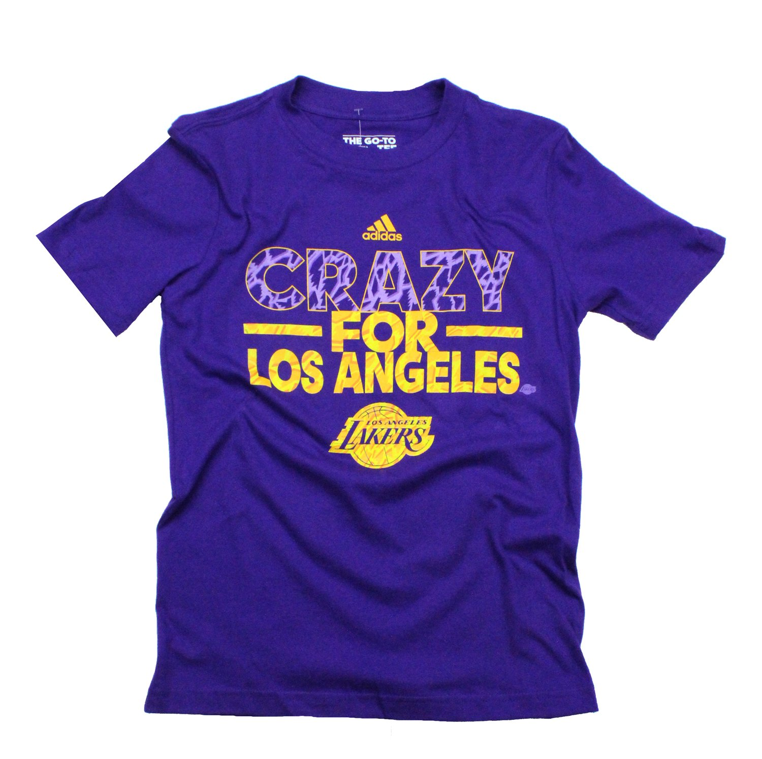Adidas NBA Basketball Youth Los Angeles Lakers Crazy City T-Shirt - Purple