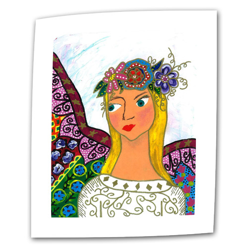 ArtWall Angel Ellen by Debra Purcell Print of Painting on Rolled Canvas
