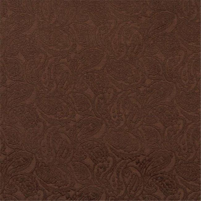 Designer Fabrics E578 54 in. Wide Brown, Paisley Jacquard Woven Upholstery Grade Fabric