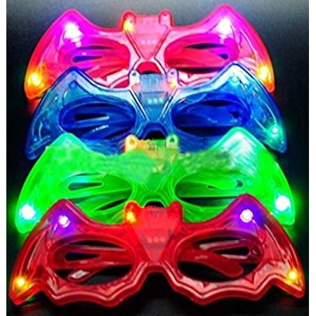 12ct LED Light Up Sunglasses - Flashing Multi Colored Led Glasses BEST PARTY FAVORS Light Up Flashing Glasses For Children