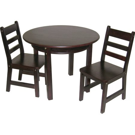 Lipper International Child S Round Table With Shelf Amp 2