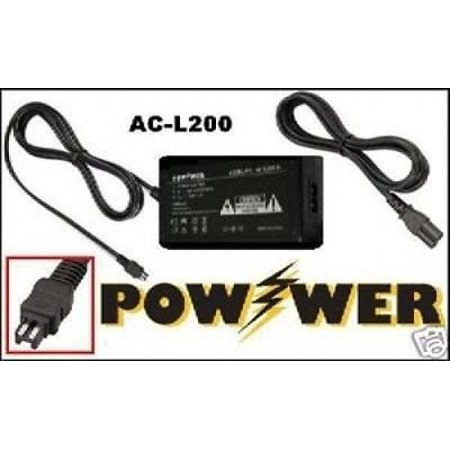 AC Adapter for Sony DCR-DVD106E ac, Sony DCRDVD106E ac, Sony DCR-DVD106 Equivalent Compact AC Power Adapter for Sony AC-L20, AC-L20A, AC-L20B, AC-L20C, AC-L25, AC-L25A, AC-L25B, AC-L25C, AC-L200, AC-L200B, AC-L200C, AC-L200D - 110/240v AC Adapter for Sony DCR-DVD106E DCRDVD106E DCR-DVD106Comes with a 1-Year WarrantyNot made by Sony
