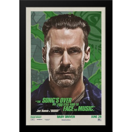 Baby Driver 28X36 Large Black Wood Framed Movie Poster Art Print