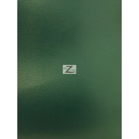 Solid Soft Faux Fake Leather Vinyl Fabric / Green / Sold By The Yard