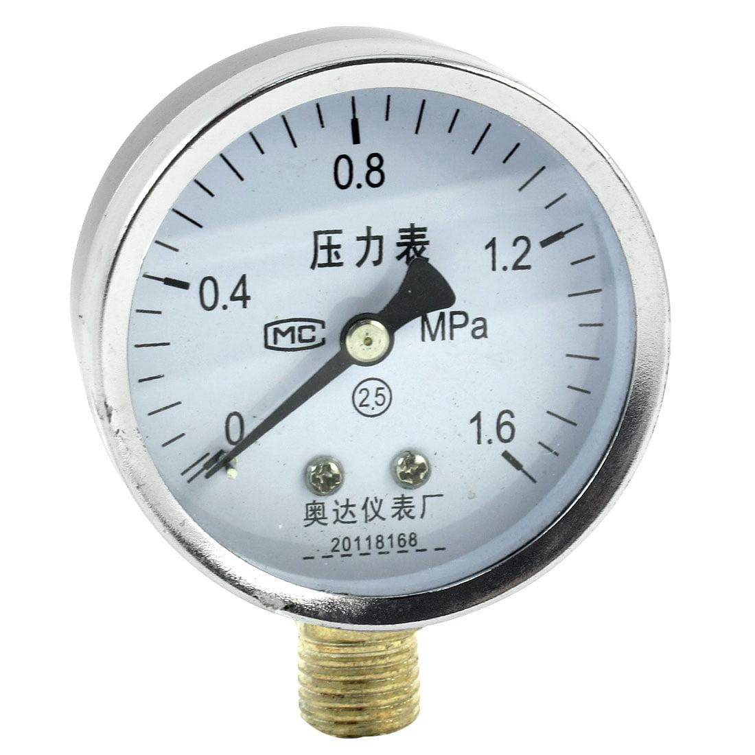 6mpa dial type air pressure gauge silver tone black walmart com