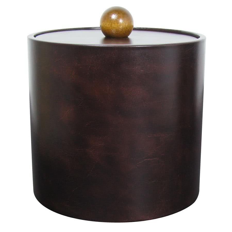 3 Qt. Dark Brown Vinyl Insulated Ice Bucket By TableTop King by